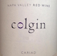 Colgin Cellars Cariad - label