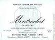 Domaine Marc Colin et Fils Montrachet Grand Cru  - label