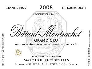 Domaine Marc Colin et Fils Bâtard-Montrachet Grand Cru  - label