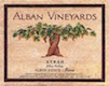 Alban Vineyards Reva Syrah - label
