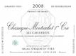 Domaine Marc Colin et Fils Chassagne-Montrachet Premier Cru Les Caillerets - label