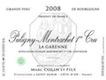 Domaine Marc Colin et Fils Puligny-Montrachet Premier Cru La Garenne - label