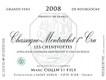 Domaine Marc Colin et Fils Chassagne-Montrachet Premier Cru Les Chenevottes - label