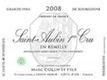 Domaine Marc Colin et Fils Saint-Aubin Premier Cru En Remilly - label