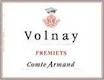 Domaine des Epeneaux (Comte Armand) Volnay Premier Cru Frémiets - label