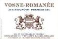Domaine du Comte Liger-Belair Vosne-Romanée Premier Cru Aux Reignots - label