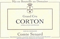 Domaine Comte Senard Corton Grand Cru Blanc - label