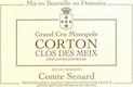 Domaine Comte Senard Corton Grand Cru Clos Des Meix - label