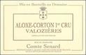 Domaine Comte Senard Aloxe-Corton Premier Cru Les Valozières - label