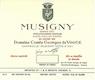 Domaine Comte Georges de Vogüé Musigny Grand Cru Vieilles Vignes - label
