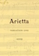 Arietta Variation One - label