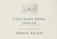 Domaine Arlaud Clos Saint-Denis Grand Cru  - label