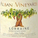 Alban Vineyards Lorraine Syrah - label