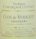 Domaine Confuron-Cotetidot Clos de Vougeot Grand Cru  - label