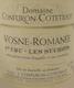 Domaine Confuron-Cotetidot Vosne-Romanée Premier Cru Les Suchots - label