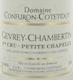 Domaine Confuron-Cotetidot Gevrey-Chambertin Premier Cru Petite Chapelle - label