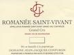 Domaine Jean-Jacques Confuron Romanée-Saint-Vivant Grand Cru  - label