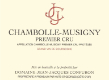 Domaine Jean-Jacques Confuron Chambolle-Musigny Premier Cru  - label