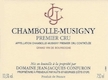Domaine Jean-Jacques Confuron Chambolle-Musigny  - label