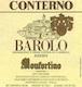 Giacomo Conterno Barolo Monfortino Riserva - label