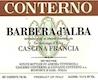 Giacomo Conterno Barbera d'Alba Cascina Francia - label