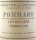 Domaine de Courcel Pommard Premier Cru Les Rugiens - label