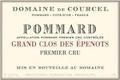 Domaine de Courcel Pommard Premier Cru Grand Clos des Epenots - label
