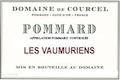 Domaine de Courcel Pommard Les Vaumuriens - label