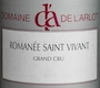 Domaine de l'Arlot Romanée-Saint-Vivant Grand Cru  - label
