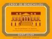 Château Ducru-Beaucaillou La Croix de Beaucaillou - label
