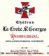 Château La Croix Saint-Georges  - label
