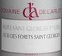 Domaine de l'Arlot Nuits-Saint-Georges Premier Cru Clos des Forêts Saint-Georges - label