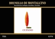 Cupano Brunello di Montalcino  - label