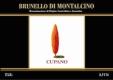Cupano Brunello di Montalcino  - label
