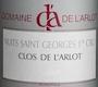 Domaine de l'Arlot Nuits-Saint-Georges Premier Cru Clos de l'Arlot - label