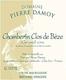 Domaine Pierre Damoy Chambertin Clos de Bèze Grand Cru  - label