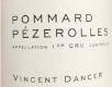 Vincent Dancer Pommard Premier Cru Les Pézerolles - label