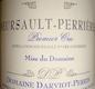 Domaine Darviot-Perrin Meursault Premier Cru Perrières - label
