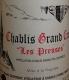 Vincent Dauvissat Chablis Grand Cru Les Preuses - label