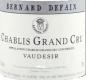 Domaine Bernard Defaix Chablis Grand Cru Vaudésir - label