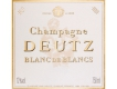 Deutz Blanc de Blancs - label