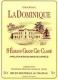 Château La Dominique  Grand Cru Classé - label
