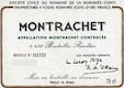 Domaine de la Romanée-Conti Montrachet Grand Cru  - label