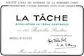 Domaine de la Romanée-Conti La Tâche Grand Cru  - label