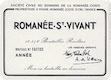 Domaine de la Romanée-Conti Romanée-Saint-Vivant Grand Cru  - label