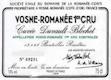 Domaine de la Romanée-Conti Vosne-Romanée Premier Cru Cuvée Duvault Blochet - label