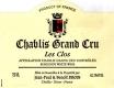 Jean-Paul et Benoît Droin Chablis Grand Cru Les Clos - label