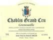 Jean-Paul et Benoît Droin Chablis Grand Cru Grenouilles - label