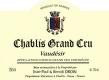 Jean-Paul et Benoît Droin Chablis Grand Cru Vaudésir - label
