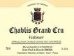 Jean-Paul et Benoît Droin Chablis Grand Cru Valmur - label